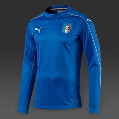 8db2d9b9e4cec Italy Euro 2016 Home Men Long Sleeve Soccer Jersey Personalized Name and  Number