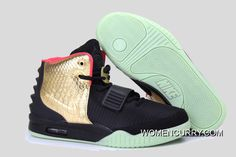"4dcfbcabfd710 Glow In The Dark ""Imperial"" Nike Air Yeezy 2 Black Gold Cheap To Buy"