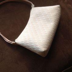 Christian Dior Pink/White Logo Small Shoulder Bag