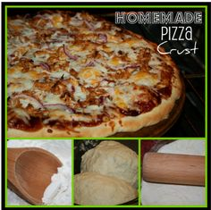 Easy Honey Pizza Crust and Chicken BBQ Pizza.