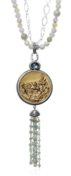 Caracol - Inspired Jewelry and Handbags - Antique Hunt Scene Necklace | Mars and Valentine , $640.00 (http://www.caracolsilver.com/products.php?product=Antique-Hunt-Scene-Necklace-|-Mars-and-Valentine-/)