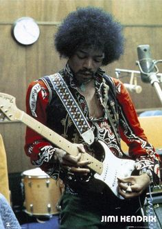 Psychedelic Psunday coming up at 9am eastern on Q107 Toronto(Your 12 hour trip) and here's an excellent picture of Jimi in the studio...