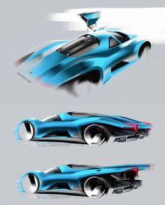 Porsche Concept Design Sketches by Peter Semenov
