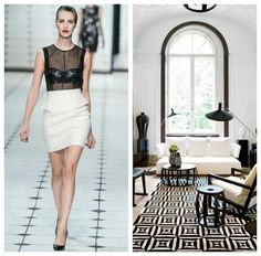 Spring 2013 trends from the runway to use as inspiration for your home decor Spring 2013 trends from the runway to use as inspiration for your home decor #fashion #runway #spring2013 #bedroom #blackandwhite