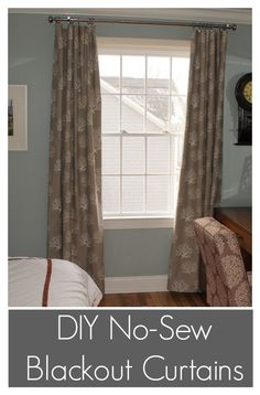 Diy No Sew Blackout Curtains Incredibly Easy All You Need Is Fabric And An
