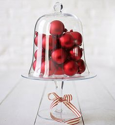 Glass Cake Stand And Dome