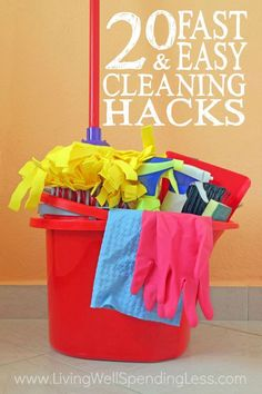 Let's face it--cleaning is rarely fun, but wouldn't it be great to find a few simple tricks that could make getting things spic & span just a little bit faster or easier? Our 20 fast & easy cleaning hacks provide clever solutions to a variety of cleaning