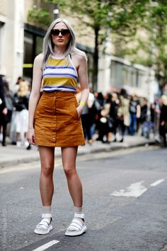 Emily, Hanbury Street, Graduate Fashion Week, London, Street Style Fashion.