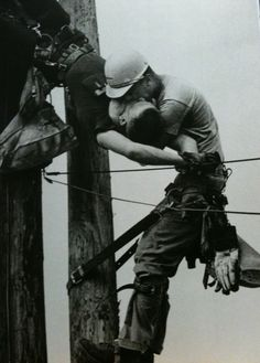 The Kiss of Life – A utility worker giving mouth-to-mouth to a co-worker after he contacted a high voltage wire in 1967.