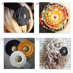 DIY Fabric Flower Pin Collection