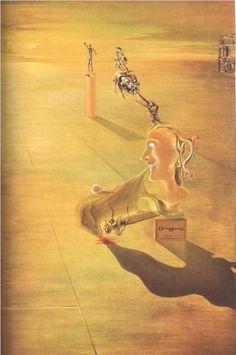 """Phantasmagoria"" (1930), by Salvador Dalí. Oil on panel; Surrealism; Private collection (Paris)"
