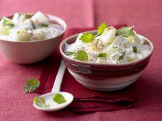 Kokos-Kefir-Quark - mit Honigmelone - smarter - Kalorien: 139 Kcal - Zeit: 10 Min. | eatsmarter.de Kokos macht den Magerquark zu einem exotischen Geschmackserlebnis.