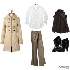 I would so wear this! Casual and comfy yet dressy :)
