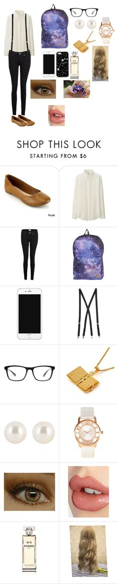 """Cute Nerd"" by mattie2602 ❤ liked on Polyvore featuring Uniqlo, Paige Denim, Kate Spade Saturday, Forever 21, Joseph Marc, MBLife.com, Henri Bendel, ZALORA, Charlotte Tilbury and Chanel"
