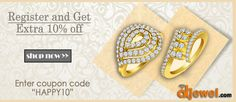 """Happy to get you on board... Register and get 10% Discount on your First Purchase... Use Coupon Code- """"Happy10"""""""