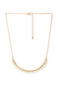 Faux Pearl Crescent Necklace | FOREVER21 - 1000137356