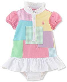 Ralph Lauren Baby Girls' Colorblocked Dress