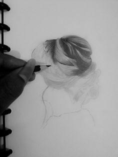 Belajar gambar Realism Hair