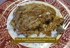 Oven Baked Smothered Cube Steak Oven Baked Smothered Cube Steak and homemade gravy Recipe. How to make Smothered Cube Steak in the Oven from scratch. You can make your cube steak and gravy in an iron skillet from stove top to oven. Cube Steak In Oven, Cube Steak And Gravy, Beef Tips And Gravy, Steak Recipes Stove, Cube Steak Recipes, Chicken Wing Recipes, Beef Recipes, Cuban Recipes, Dinner Recipes