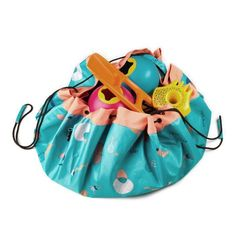 Play and Go - Fabric Outdoor Play Mat Storage Bag - Play turquoise - Blue/Green Go Bags, Kids Bags, Toy Storage Bags, Play N Go, Outdoor Play, Outdoor Storage, Picnic, 1, Beach