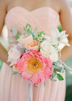 i love big blooms!  bouquets, bridesmaids, colors, flora, flowers, pink, blush, from, grey, heavenly, likes, pastel, bouquet