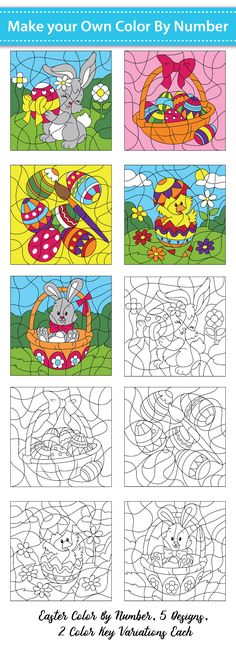 Make Your Own Color By Number - Easter Set