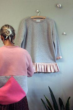 Greek Fashion, News Design, Satin Fabric, Flirting, Fashion Brands, Bell Sleeve Top, Pullover, Sweatshirts, How To Wear