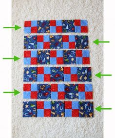 Downy Touch Of Comfort: Quilts for Kids (& making a FOUR-PATCH QUILT) / http://www.makeit-loveit.com/2012/05/downy-touch-of-comfort-quilts-for-kids-making-a-four-patch-quilt.html#