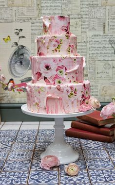 Pretty Pink Patterns Wallpaper Cake