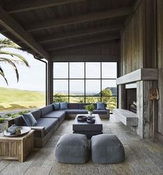 Dream House Tour: Beautiful Contemporary Ranch House in Napa Valley Modern House Ideas For You After Napa Valley, Back Porch Designs, Home Luxury, Luxury Homes, House Ideas, Dream House Interior, Outdoor Rooms, Outdoor Living Spaces, Indoor Outdoor Kitchen