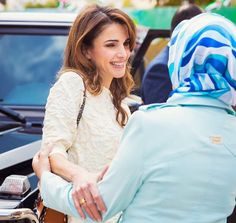 Queen Rania visited the Safout Secondary School for Girls