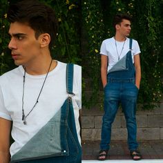 """Outfit do dia #17: Jardineira masculina """