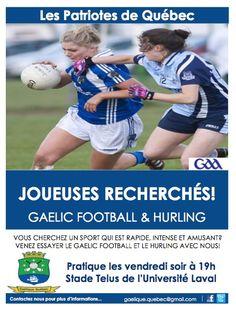 Les Patriotes de Quebec GAA - Gaelic Football and Hurling Laval, Football, Ireland, Irish, Ab Training, Abs, Sports, Gamer Girls, Biathlon