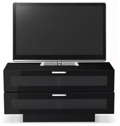 """Stil Stand Gloss Black Wooden TV Cabinet - STUK4001-2. The ultra modern and contemporary looking STUK4001BL-2 TV stand will be a top quality stunning addition to your home and a guaranteed focal piece for any room.      Suitable for LED, LCD and Plasma TVs up to 55"""".     Smart Gloss Black Finish.     Dark Grey Glass Door.  Dimensions: 1200mm (w) x 472mm (d) x 609mm (h)    STUK4001BL-2."""