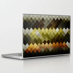 """Abstract Cubes YBO Laptop Skin 11"""" / 13"""" / 15"""" / 17"""" by RobozCapoz -  http://www.fit4skins.com/"""