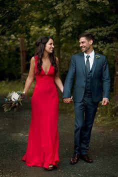 Kilshane House Wedding by SOSAC Photography red wedding dress Wedding Dress Necklines, Wedding Dresses, Fiery Red, Red Wedding, Bridal Looks, Wedding Photography, Gowns, Elegant, Formal Dresses
