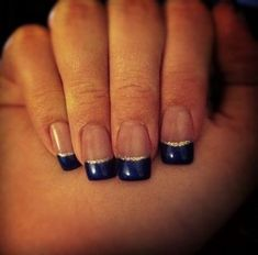 Wedding nails french gold navy blue 15 new Ideas #nails #wedding