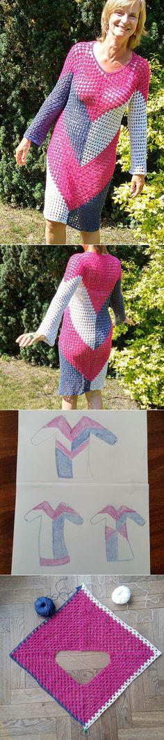 25ace559bd05 1502 nejlepších obrázků z nástěnky Háčkované šaty 3 - Crochet dress ...