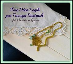 Marque - page signet fleur du soleil filigrané ton or, cristaux de verre et perles vert menthe, cadeau fête des mère anniversaire noël étude