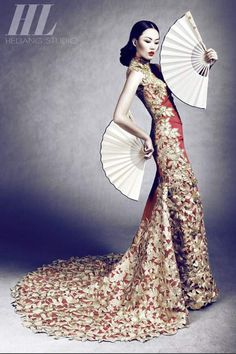 It's not something I'd wear but i just love the Asian feel to this
