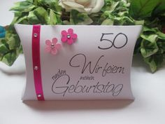 Gastgeschenke - Gastgeschenk zum runden Geburtstag, 50. Geburtstag - ein Designerstück von Deko-Ideenreich bei DaWanda