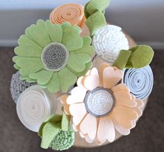 Felt Floral Bouquet Sweet Spring Air by SugarSnapBoutique