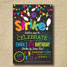 Bowling Invitations Bowling Birthday Invitations by creativelime