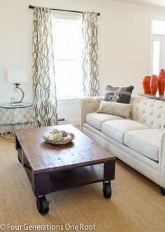 Do it yourself decorating + mixing and matching patterns