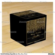 Gold Holiday Sparkle Favor Box