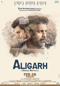 Aligarh movie first look poster out now. Here is the brand new poster of Rajkummar Rao and Manoj Bajpai starrer 'Aligarh'. The film poster features both the lead p Imdb Movies, All Movies, Movie Songs, Movies To Watch, Movies Free, Drama Movies, Karma Pictures, Open Film, Hindi Movies Online