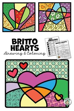 Romero Britto Valentine Heart Art Activity : This Valentines heart art project is fun for kids and incorporates some art history! Heart Art for Kids - Romero Britto Art Project for Kids! Valentines Art Lessons, Valentines Art For Kids, Valentines Day Drawing, Valentine Heart, Art Activities For Kids, Art Lessons Elementary, Arte Pop, Heart Art, Teaching Art