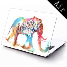 Water Colorful Elephant Design Full-Body Protective Plastic Case for 11-inch/13-inch New Mac Book Air 2015 – $25.99