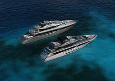 Mondo Marine M50 and M43,Exterior design project by Hot Lab yacht & design