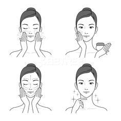 Body Shop Skincare, Skin Logo, Promotional Design, Care Logo, Illustration Girl, Advertising Design, The Body Shop, Clear Skin, Brand Identity